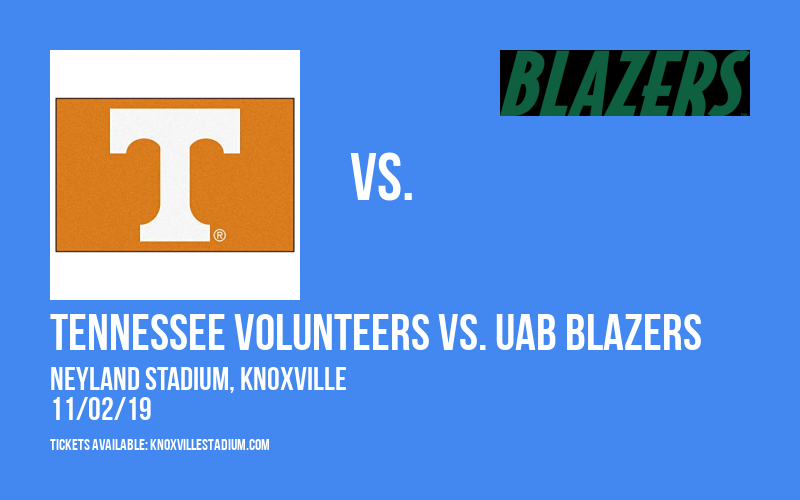 Tennessee Volunteers vs. UAB Blazers at Neyland Stadium