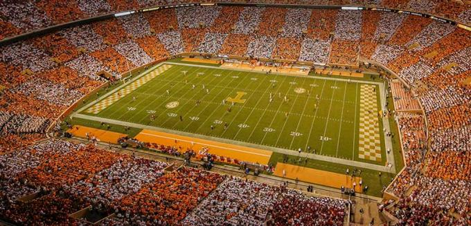 2020 Tennessee Volunteers Football Season Tickets (Includes Tickets To All Regular Season Home Games) at Neyland Stadium
